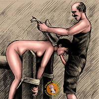 Submissive slave sucked cock